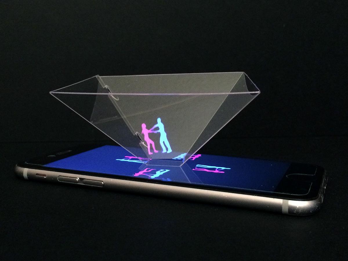 cr er votre hologramme pour smartphone on vous donne le tuto. Black Bedroom Furniture Sets. Home Design Ideas