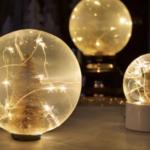 Fabriquer votre propre boule à neige lumineuse !